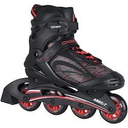Patins Oxer New Magma - In Line - Fitness - ABEC 7 - Adulto - PRETO/VERMELHO