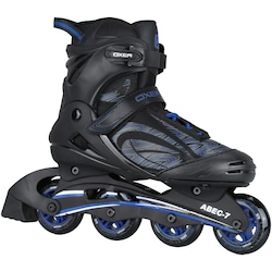 Patins Oxer New Magma - In Line - Fitness - ABEC 7 - Adulto - PRETO/AZUL