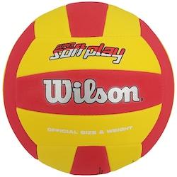 Bola de Vôlei Wilson Super Soft Play - VERMELHO/AMARELO