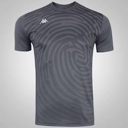Camisa Kappa Print - Masculina - CINZA ESCURO