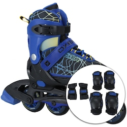 Patins Oxer Kit Joy Ajustavel - PRETO/AZUL
