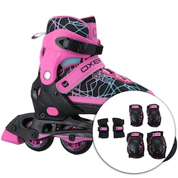 Patins Oxer Kit Joy Ajustavel - PRETO/ROSA