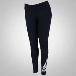 Calça Legging Reebok Wor Big Logo - Feminina - PRETO