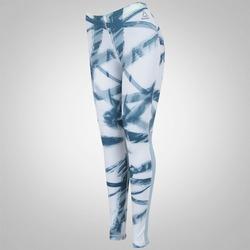 Calça Legging Reebok Running Essentials - Feminina - BRANCO/AZUL
