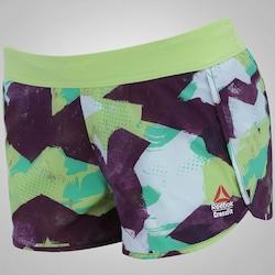 Shorts Reebok CrossFit Knw Camo - Feminino - BRANCO/ROXO
