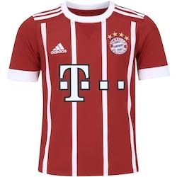 Camisa Bayern de Munique I 17/18 adidas - Infantil - VERMELHO/BRANCO