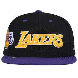 Boné Aba Reta Adidas Los Angeles Lakers - Snapback - Adulto - Preto amarelo 7f8e773ad10