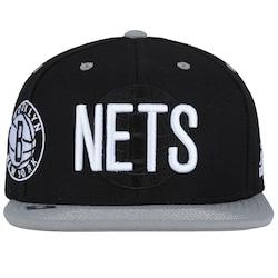 Boné Aba Reta Adidas Brooklyn Nets - Snapback - Adulto - Preto branco e975d31d426