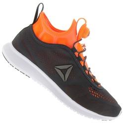 Tênis Reebok Pump Plus Tech - Masculino - CINZA ESC/LARANJA
