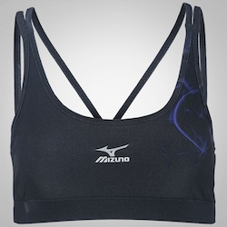 Top Fitness Mizuno Dark Print II - Adulto - PRETO/AZUL