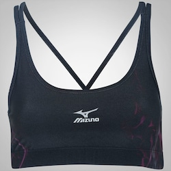 Top Fitness Mizuno Dark Print II - Adulto - PRETO/VINHO