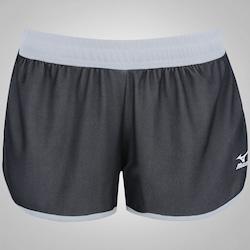 Shorts Mizuno Cooper F 2 - Feminino - PRETO/BRANCO