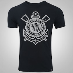 Camiseta do Corinthians Crest 2017 Nike - Masculina - PRETO