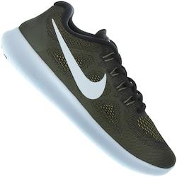 Tênis Nike Free RN 2017 - Masculino - VERDE ESC/BRANCO
