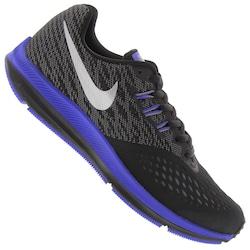 Tênis Nike Zoom Winflo 4 - Masculino - PRETO/CINZA ESC