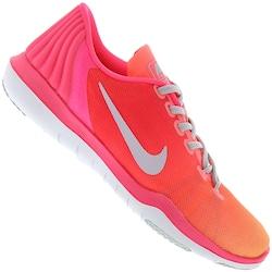 Tênis Nike Flex Supreme TR 5 Fade - Feminino - Rosa/Cinza Cla