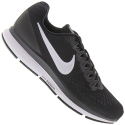 Tênis Nike Air Zoom Pegasus 34 - Feminino - PRETO/BRANCO