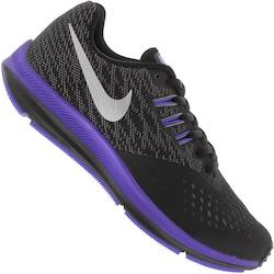 Tênis Nike Zoom Winflo 4 - Feminino - PRETO/CINZA CLARO