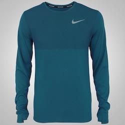 3d6a8caf02 Camiseta Manga Longa Nike Zonal Cool Relay - Masculina - PETROLEO