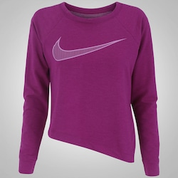 Camiseta Manga Longa Nike Dry Top LS - Feminina - VINHO