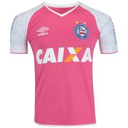 99fa8c3fa3 Camisa De Goleiro Do Bahia I 2017 Nº 1 Umbro - Masculina - Rosa branco