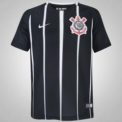 Camisa do Corinthians II 2017 Nike - Infantil - PRETO/BRANCO