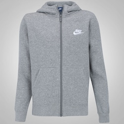 Jaqueta de Moletom com Capuz Nike Sportswear Hoddie - Infantil - CINZA