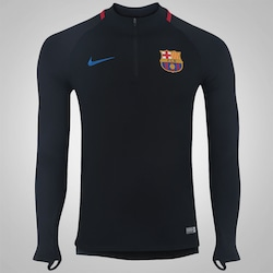 Blusão Barcelona 17/18 Nike Dril - Masculino - PRETO