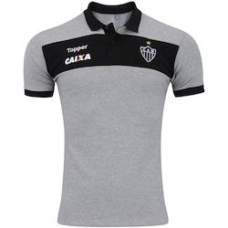 Camisa Polo do Atlético-MG Viagem 2017 Topper - Masculina - CINZA