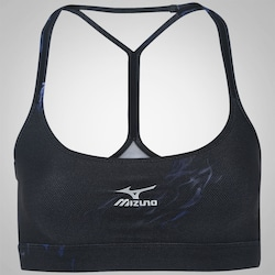 Top Fitness Mizuno Dark Print - Adulto - AZUL ESCURO