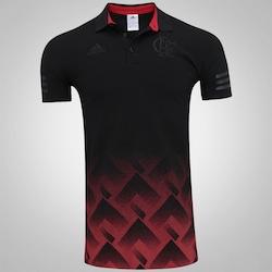 e758b7a185 Camisa Polo do Flamengo Premium Longline adidas - Masculina - PRETO VERMELHO