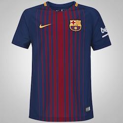 Camisa Barcelona I 17/18 Nike - Infantil - AZUL