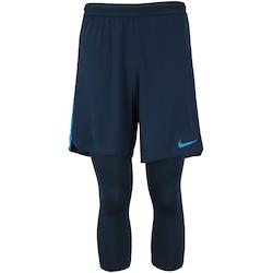 Short-Calça Nike Neymar 2 em 1 - Masculino - AZUL ESCURO