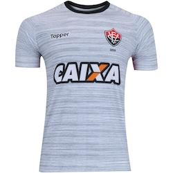 Camisa de Treino do Vitória 2017 Topper - Masculina - CINZA/VERMELHO