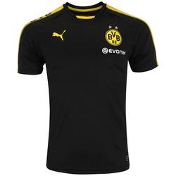 Camisa de Treino Borussia Dortmund 17/18 Puma - Masculina - PRETO/AMARELO