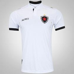 6e0acbb77331c Camisa Do Botafogo-pb Ii 2017 Nº 10 Numer - Masculina - Branco preto