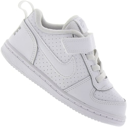 Tênis Nike Court Borough Low BB - Infantil - BRANCO