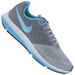 Tênis Nike Zoom Winflo 4 Feminino - Infantil - CINZA/AZUL CLA