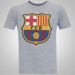 Camiseta Barcelona Brasão - Infantil - CINZA