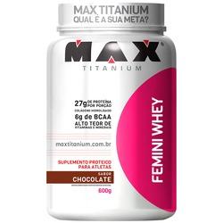 Whey Protein Max Titanium Femini Whey - Chocolate - 600g