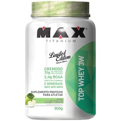 Whey Protein Max Titanium Top Whey 3W - Maça Verde - 900g