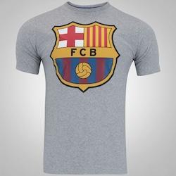 Camiseta Barcelona Brasão - Masculina - CINZA