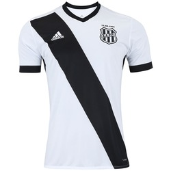 Camisa da Ponte Preta I 2017 adidas - Masculina - BRANCO/PRETO