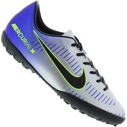 Chuteira Society Nike Mercurial X Victory Vi Neymar Tf - Infantil - Prata  azul 1c0965b102369