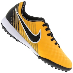 Chuteira Society Nike Magista X Onda II TF - Infantil - AMARELO ESC/PRETO