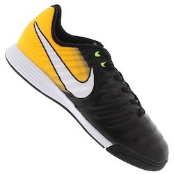 Chuteira Futsal Nike Tiempo X Ligera IV IC - Infantil - PRETO/AMARELO ESC