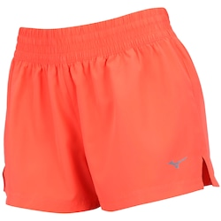 Shorts Mizuno City Run F 2 - Feminino - Coral