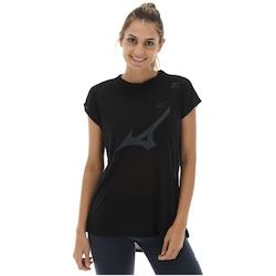 Camiseta Mizuno Iris - Feminina - PRETO