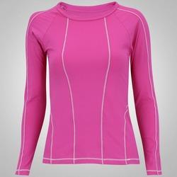 Camiseta Manga Longa com Proteção Solar UV Oxer - Feminina - ROSA