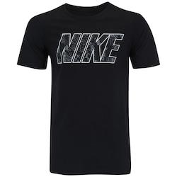 Camiseta Nike Print PK BLK - Masculina - PRETO